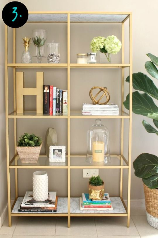 7 Must Have Ikea Products For Your Home Decor Gold Bookshelf