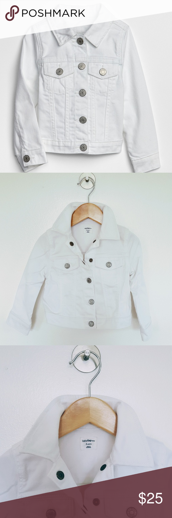 The Gap Icon White SnapButton Denim Jacket Denim