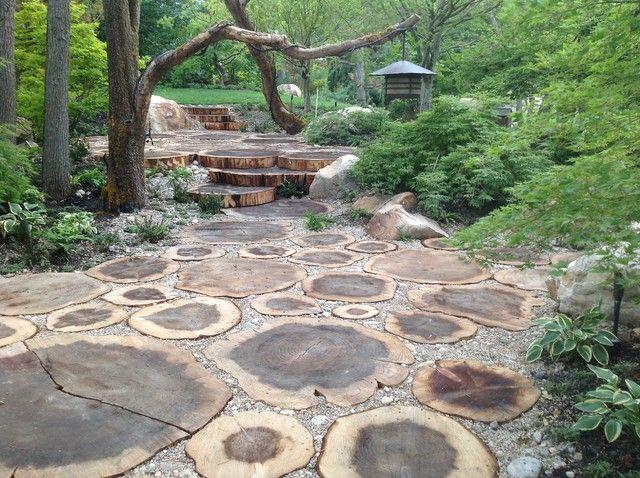 Log Pathway Diy Wood Slices