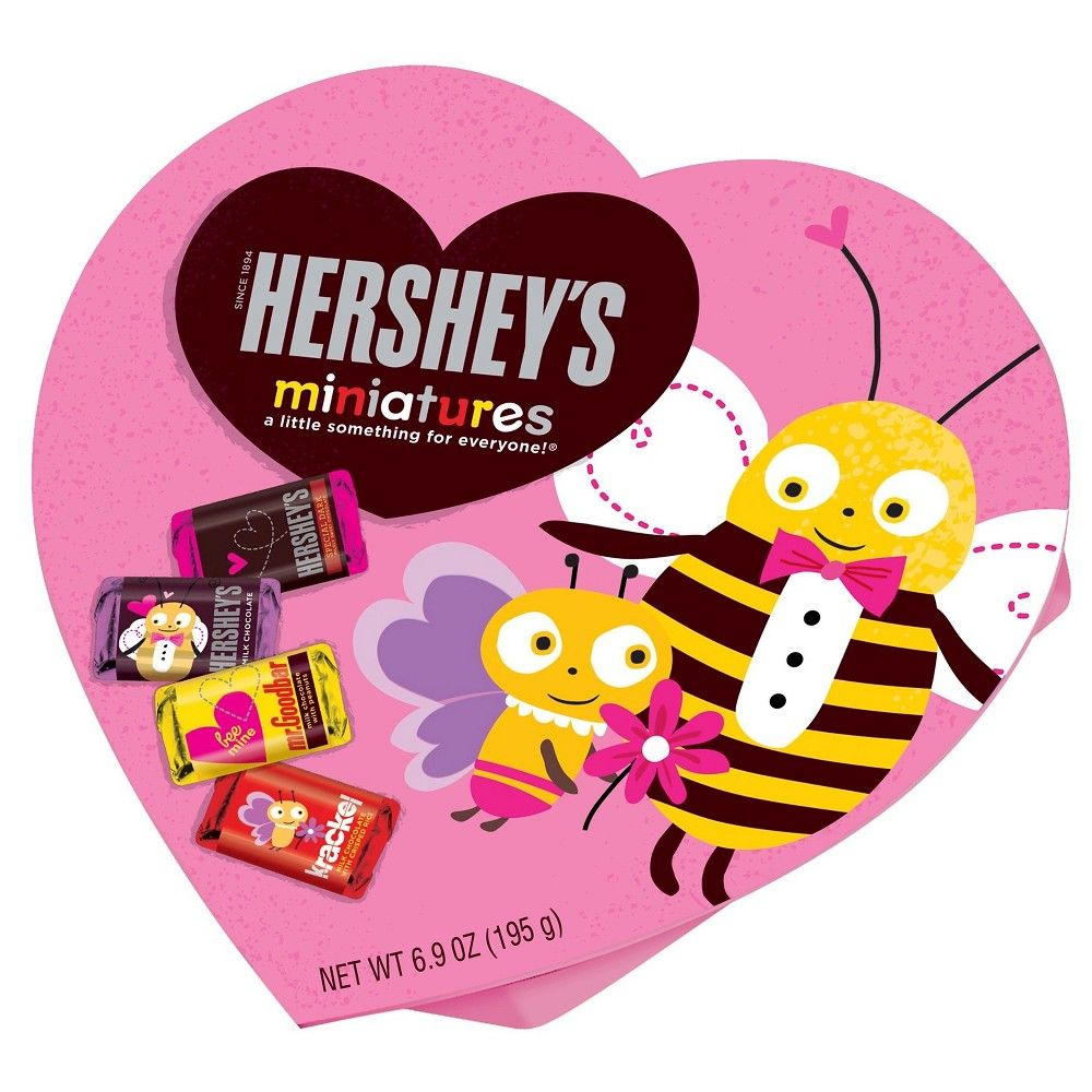 Hershey's Miniatures Valentines Variety Chocolates 6.9oz