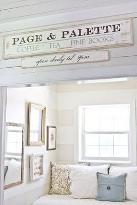 Would love to have a reading nook like this!