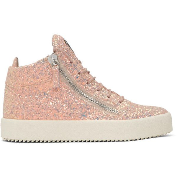 Giuseppe Zanotti SSENSE Exclusive Pink Glitter May London High-Top Sneakers NMLDVAL11