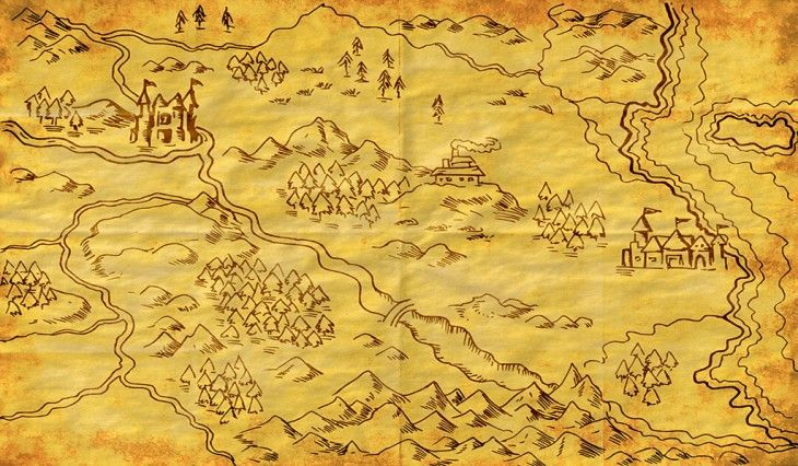 Creare una mappa fantasy l ispirazione servita come for Disegnare una piantina