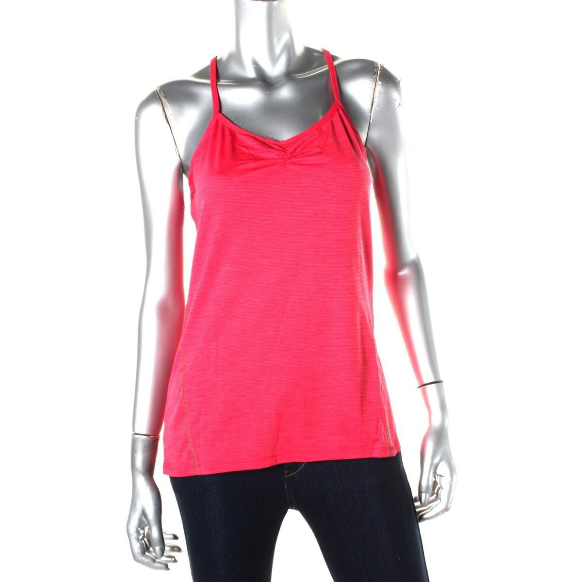 Tommie Copper Womens Agility Shirred Racerback Tank Top