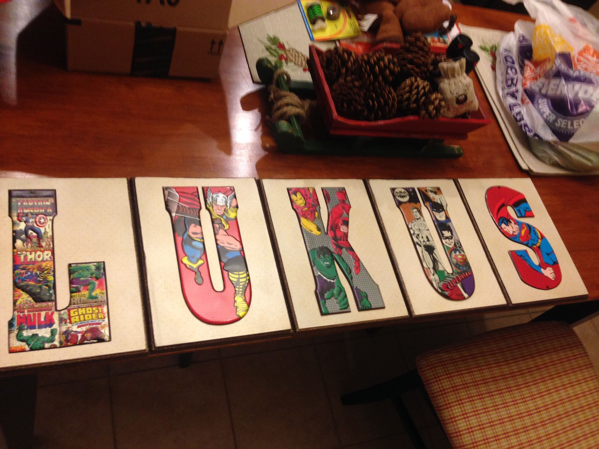 Letter Artwork Purchased Metal Letters From Hobby Lobby Wooden