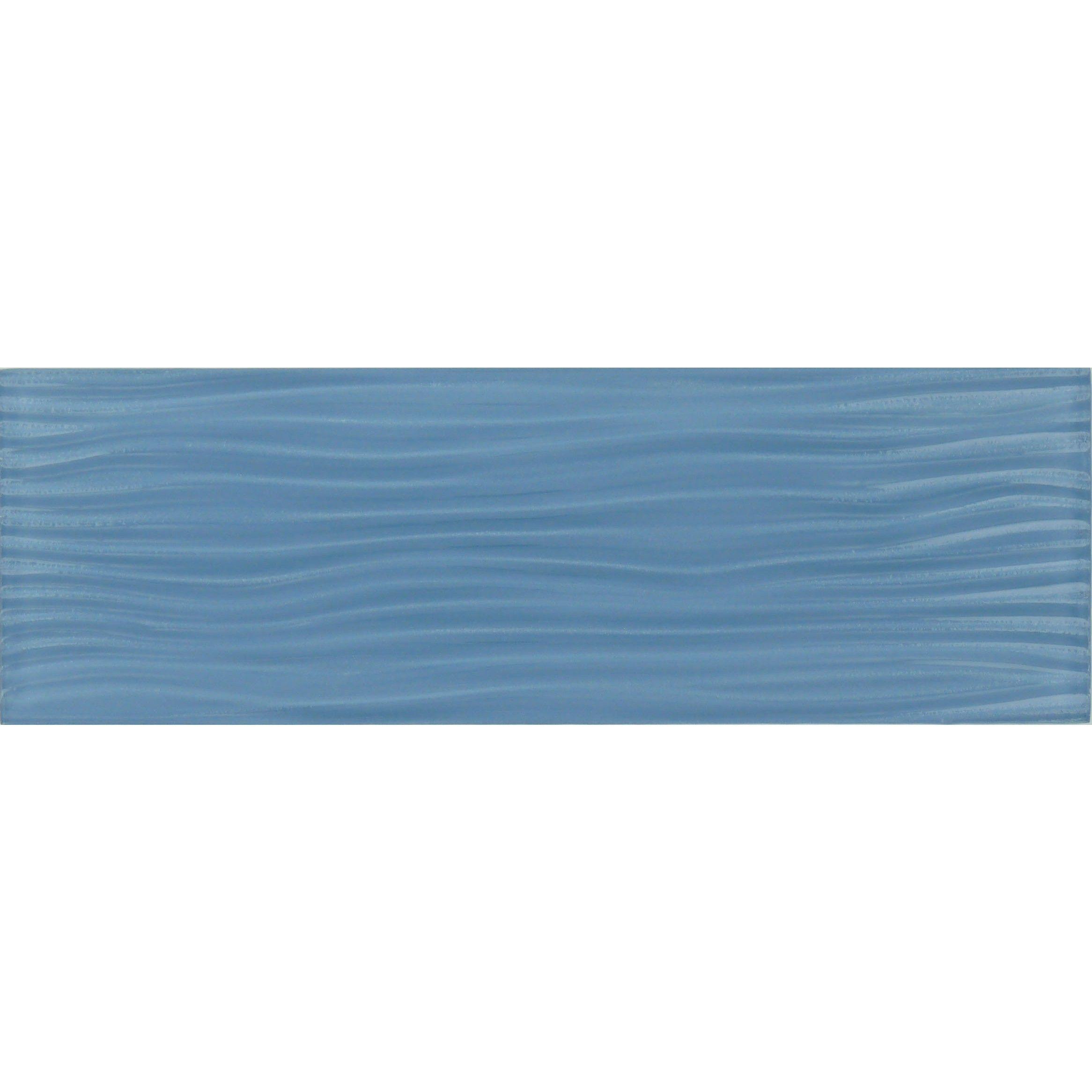 4 X 12 Blue Glass Subway Tile Glossy C10 W Wave Glass Glass Subway Tile Subway Tile