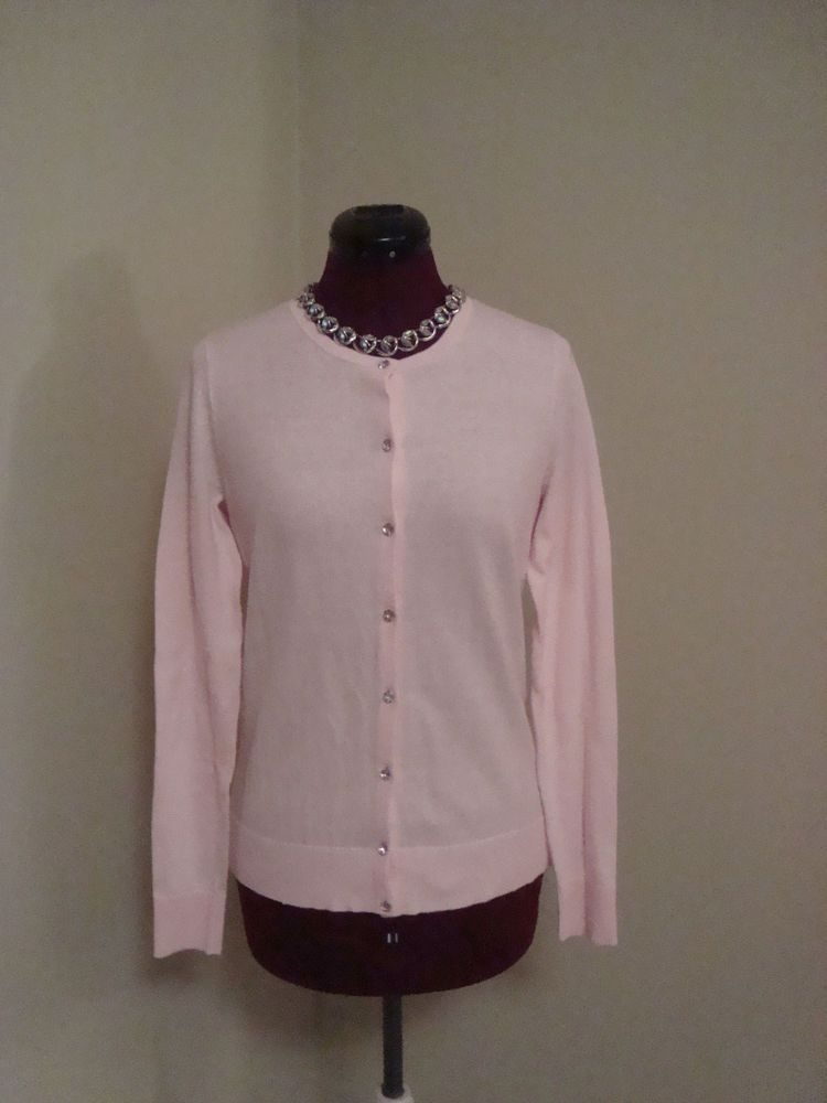 New WT Ann Taylor Sz XS Women's Pink Cotton Cardigan Sweater ...