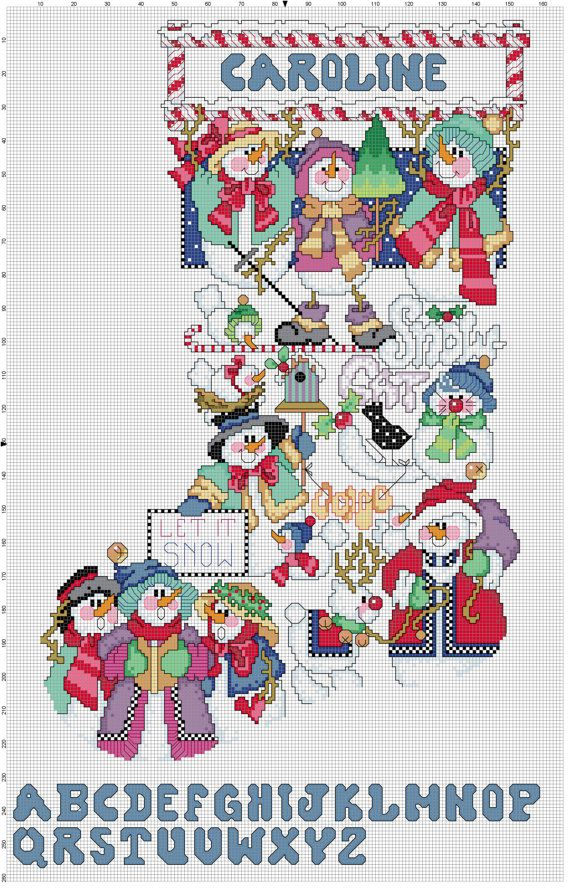 Snowman Sampler by Stitchluv on Etsy