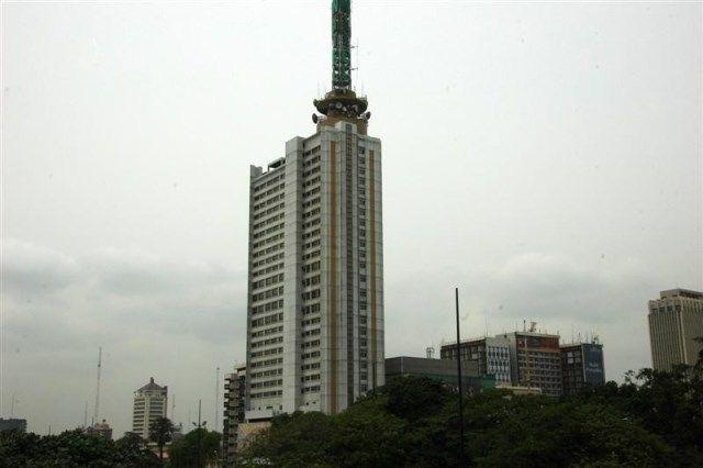 FIRE GUTS NITEL BUILDING IN LAGOS