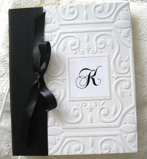 Black And White Monogram Wedding Photo Al Vintage By Daisyblu 65 00