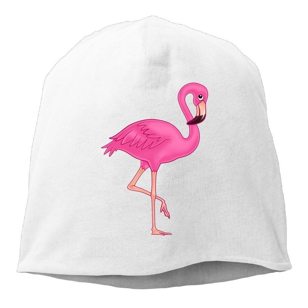 a634ad345d6 Pink Flamingo Unisex Warm Winter Hat Knit Skull Beanie Slouchy Beanie Hat Cap  White.