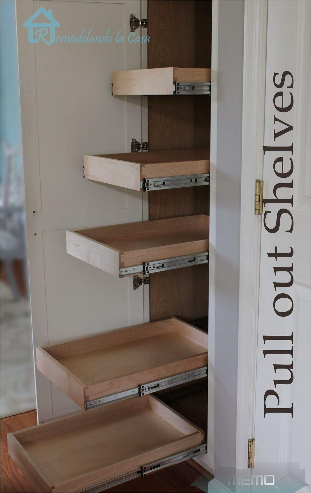 Jan 7, 2014 How to install pull out shelves in skinny