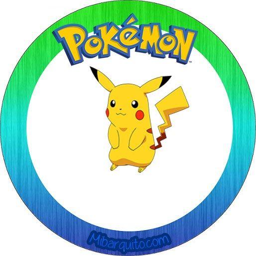 Etiqueta redonda pikachu personajes pokemon - imprimibles gratis ...
