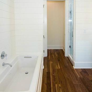 paneled bathroom   cottage bathroom, wood panel bathroom