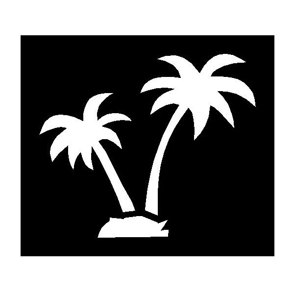 picture relating to Free Printable Beach Stencils titled Palm Tree Stencils Cost-free Printable Trees Tree stencil