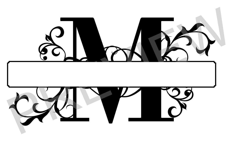 Image result for SVG Split Letter Monogram M Monogram