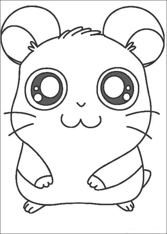 Hamtaro Coloring Pages 8 Animal Coloring Pages Cute Coloring Pages Coloring Pages