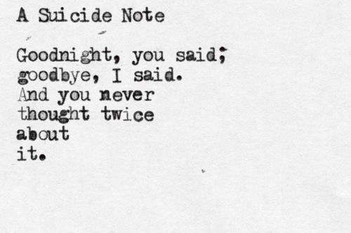 Image result for suicide notes tumblr