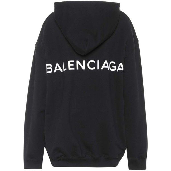 5a6ba622f46b12 Cotton hoodie Balenciaga (€595) ❤ liked on Polyvore featuring tops ...
