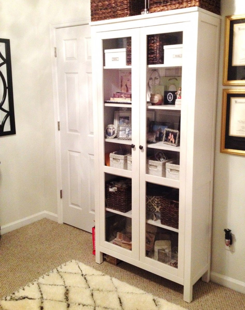 Ikea bookcase with glass doors  MinimalistInteriorRoomDesignwithRusticRattanBasketonLovely