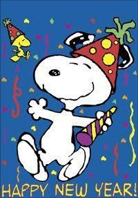 snoopy happy new year 2018 clipart