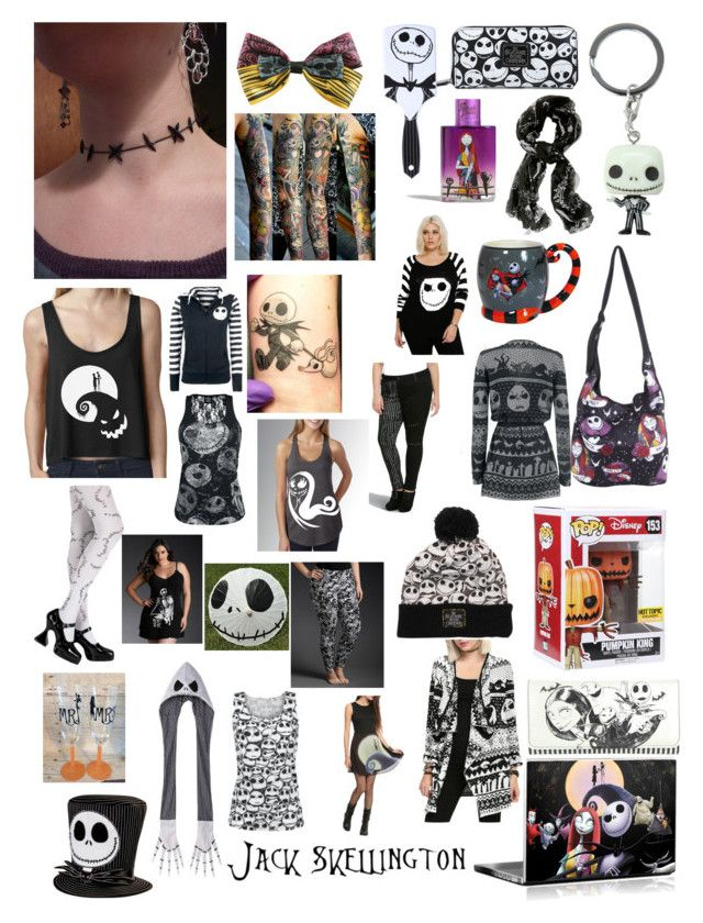 """""""Jack Skellington - the nightmare before Christmas"""" by rose34010 ❤ liked on Polyvore featuring Torrid, Loungefly, Disney and plus size clothing"""