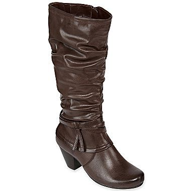 c6a80e6c45ca Yuu™ Charyl Slouch Boots - jcpenney -black and brown size 7.5