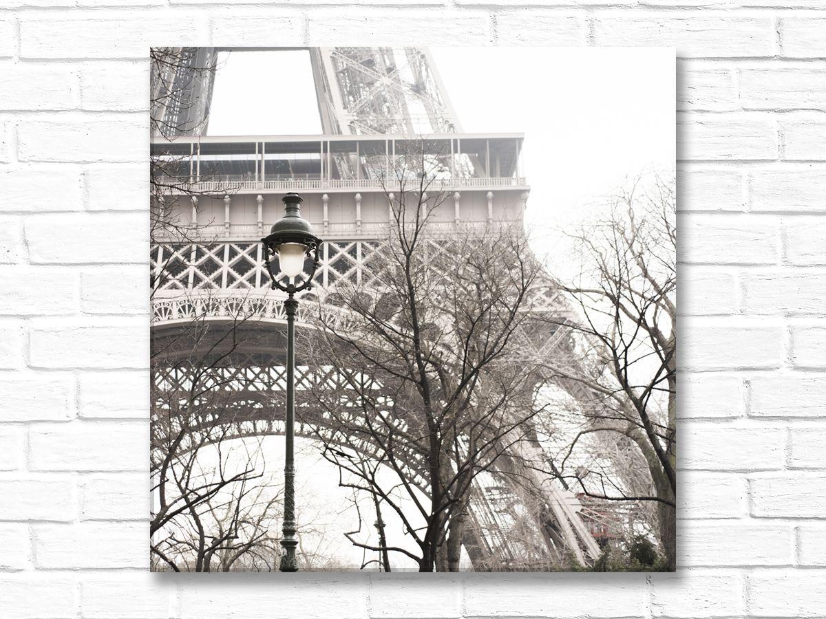 Eiffel tower with street light canvas paris wall art ideas