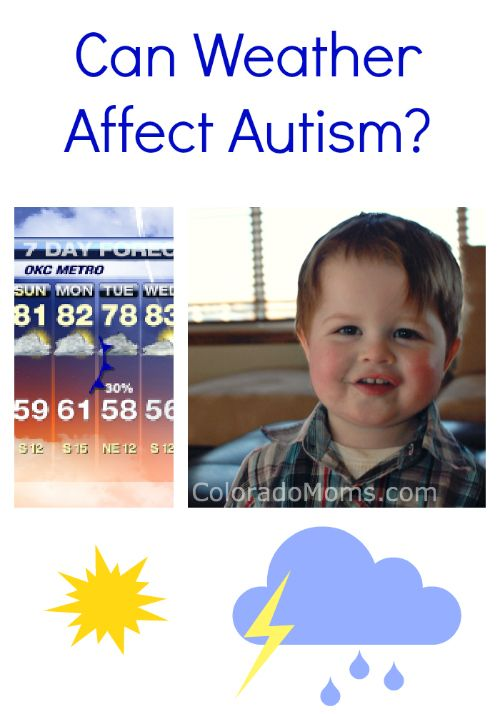 Can weather affect autism? I think weather affects all children's ...