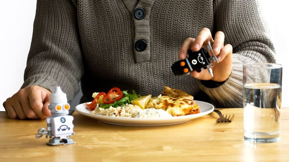 Your mother always told you not to play with your food. These salt and pepper robots beg to differ.