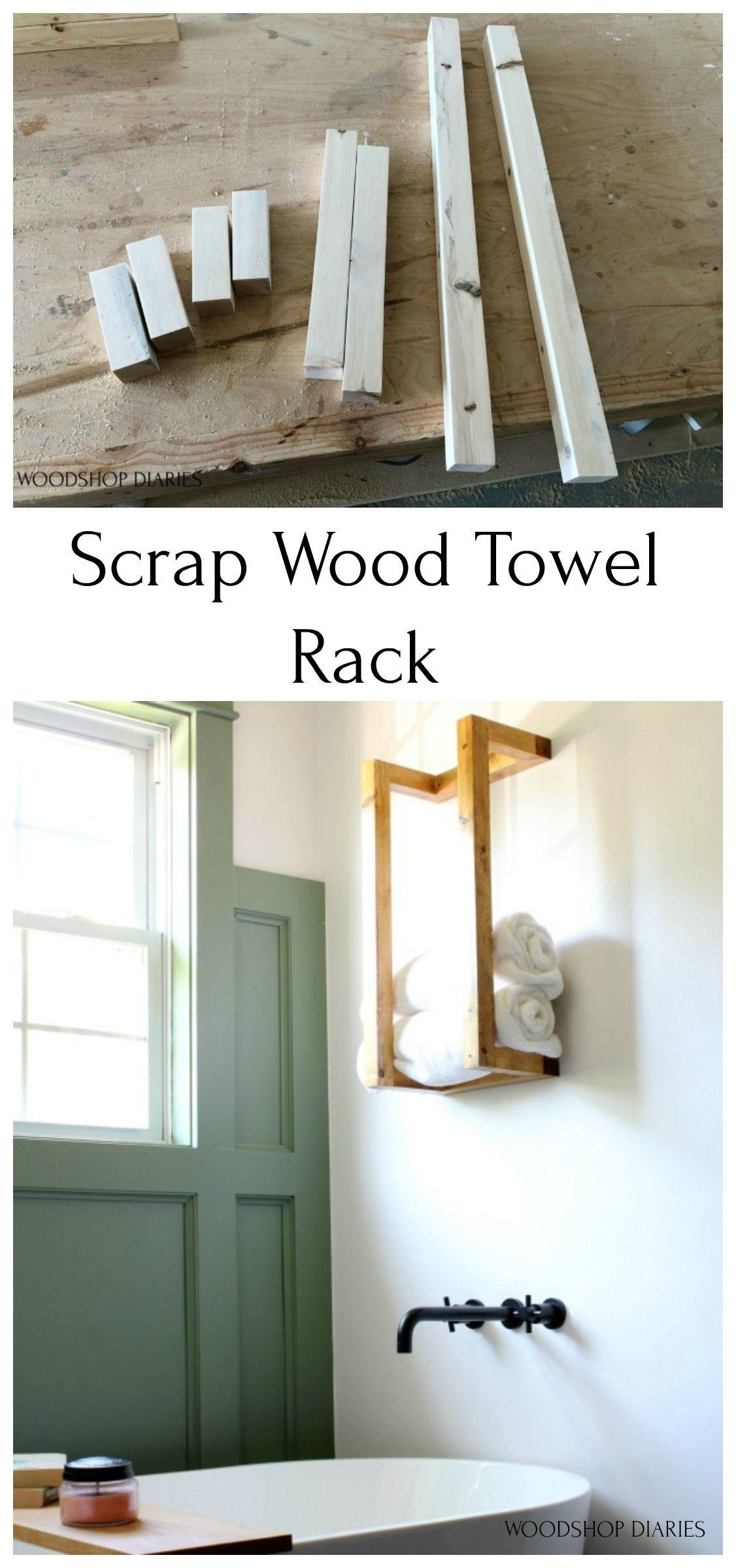 Scrap Wood Towel Rack--A 5 Minute Project!
