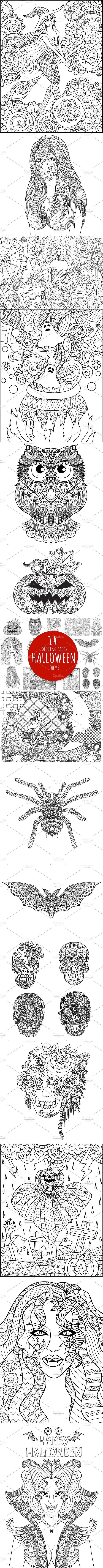 Halloween coloring pages Ghost Themes in Pinterest