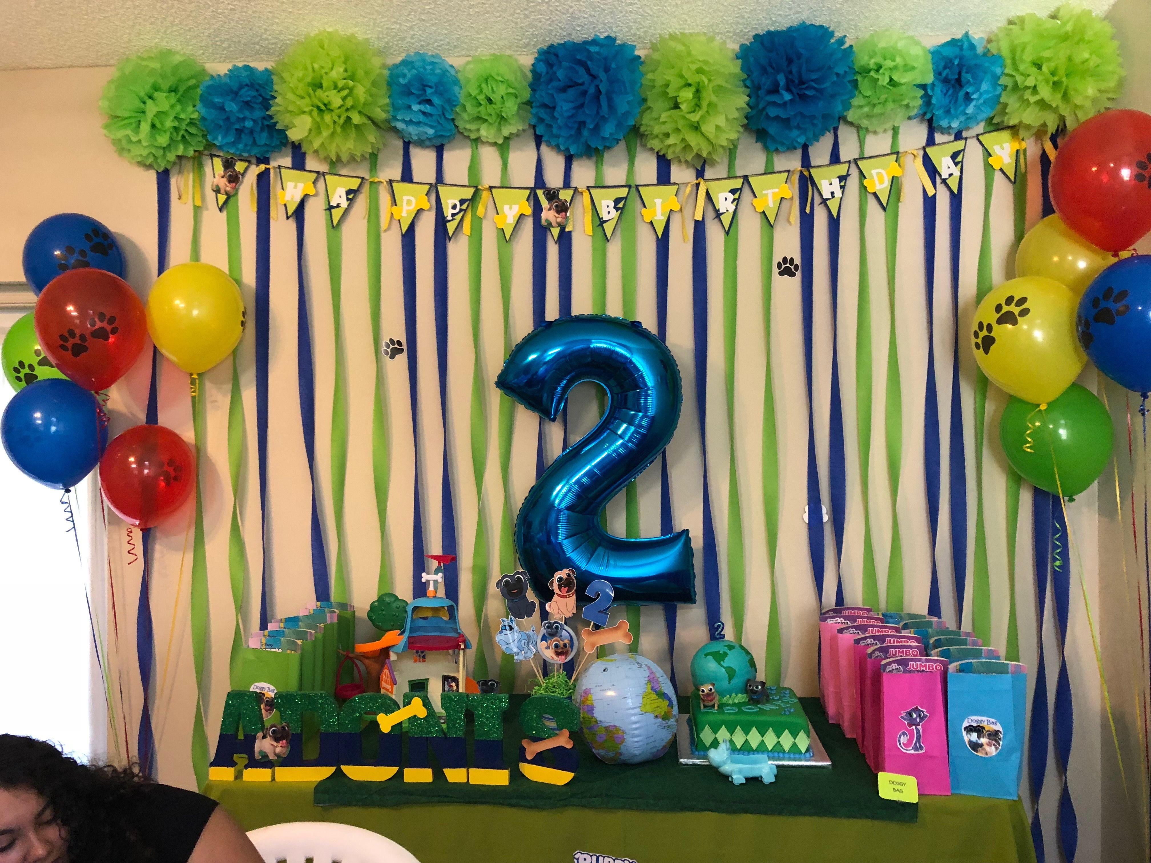 Puppy dog pals birthday birthday 2nd birthday cake pops