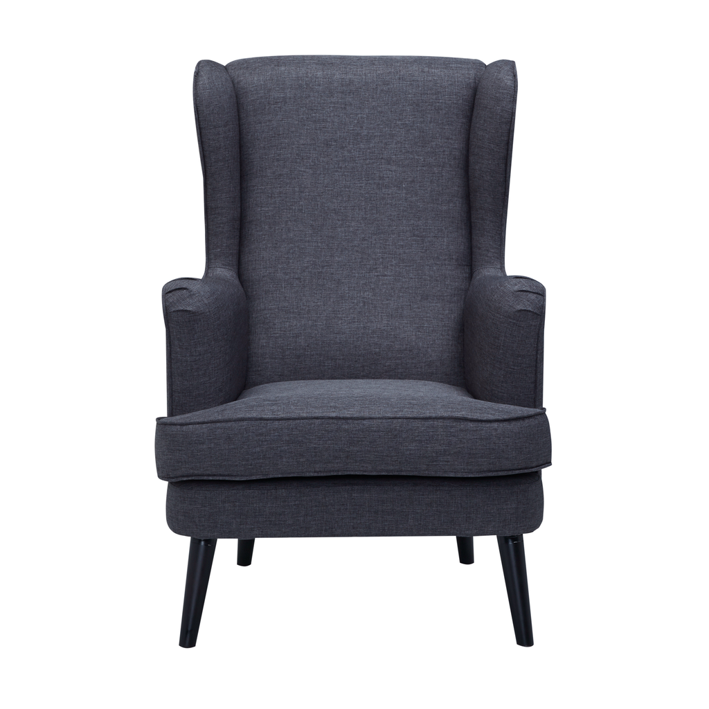 Bertie Wing Back Chair in Slate Grey (With images