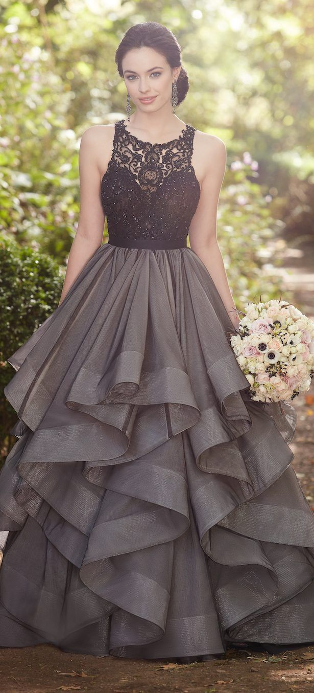 Add Drama To Your Bridal Look With These Edgy Black Wedding Dresses Belle The Magazine Ball Dresses Ball Gowns Prom Gowns [ 1355 x 615 Pixel ]