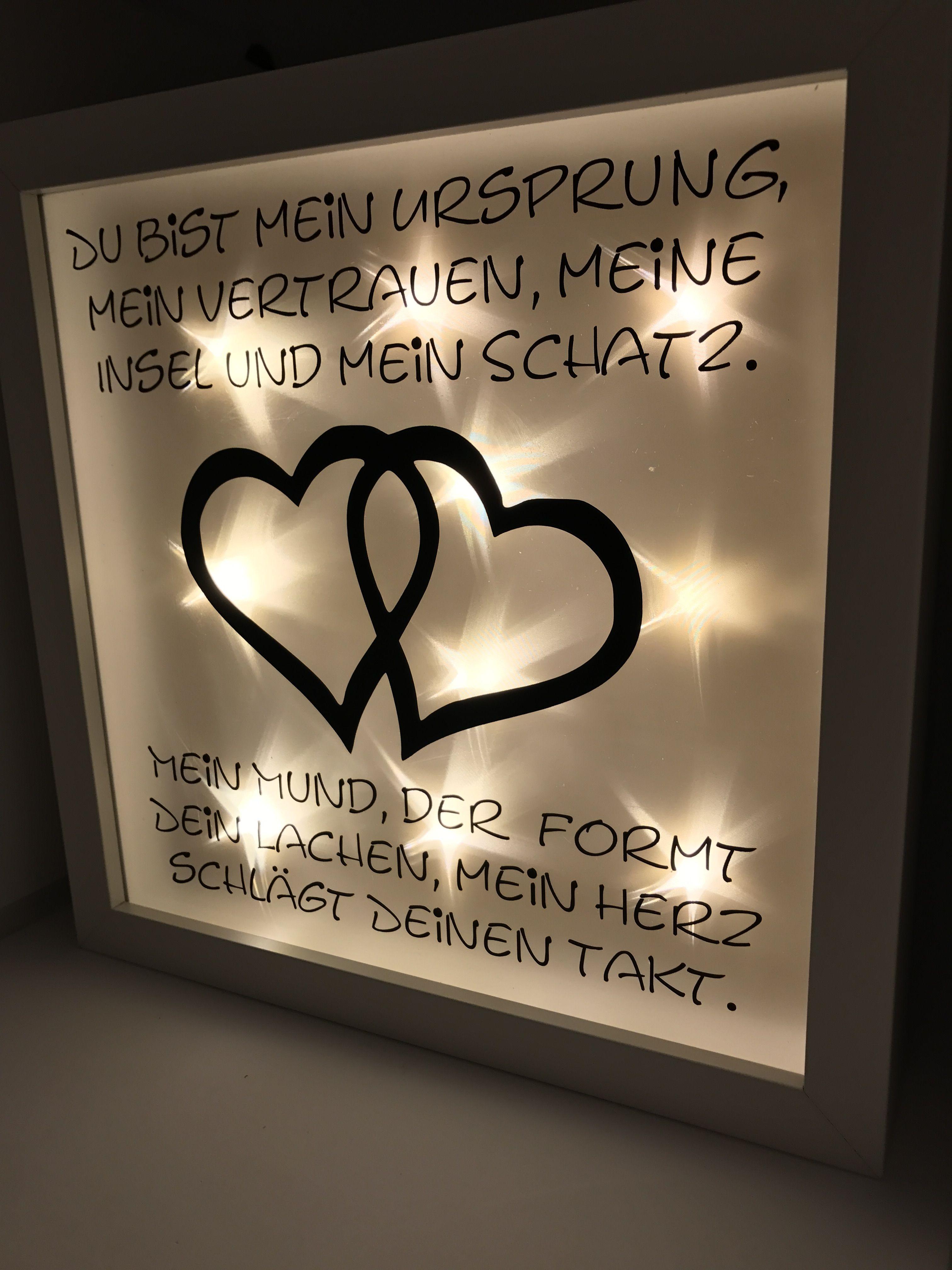 Ribba Beleuchteter Bilderrahmen LED Lichterkette Deko   Hochzeitstag ...