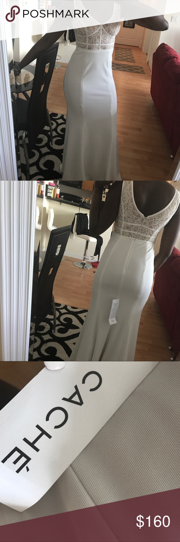 Cache Evening Gown (never worn, tags attached) NWT   White evening ...