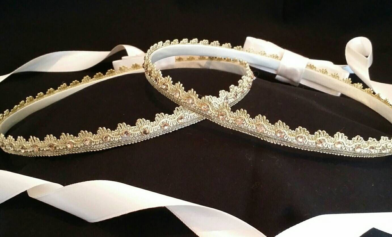 Stefana , Handmade Orthodox Greek Wedding Crowns / Tiaras, Royal Design