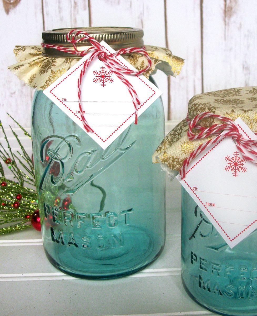 Gold Snowflake Jam Jar Decoration Set Mason Jar Christmas Gifts Christmas Mason Jars Mason Jar Crafts