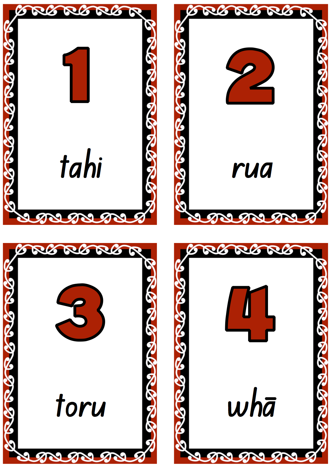 M Ori Numbers To 20 For Classroom Display Free And