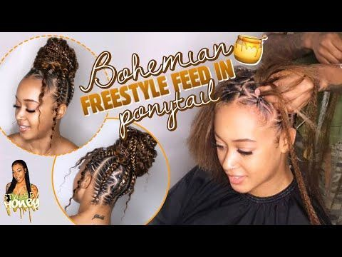 Bohemian Freestyle Feed In Ponytail