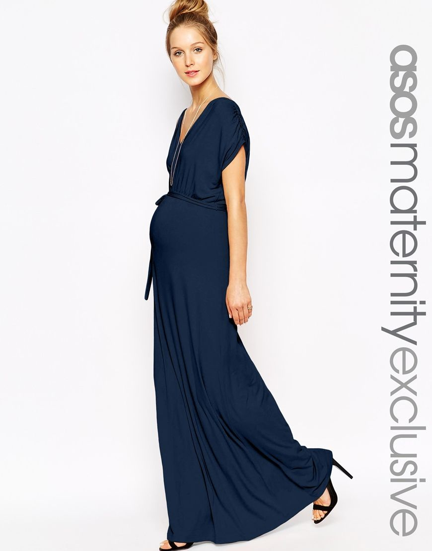 Pretty and formal enough for a wedding but work appropriate too asos maternity drape maxi dress shop for womens dress navy maxi dress ombrellifo Choice Image
