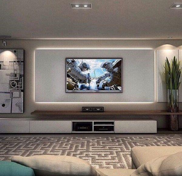 50 Inspirational Tv Wall Ideas Cuded Cozy Family Rooms Living Room Tv Wall Living Room Tv