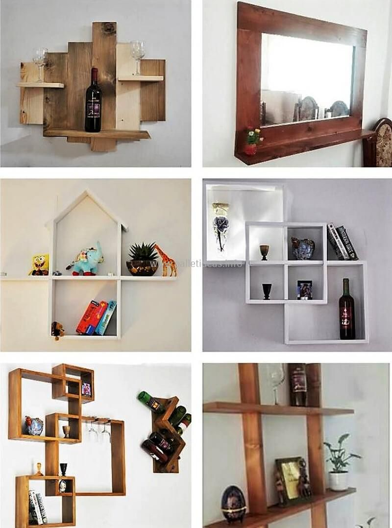 creative ideas for wood pallet wall shelves | our new home ...