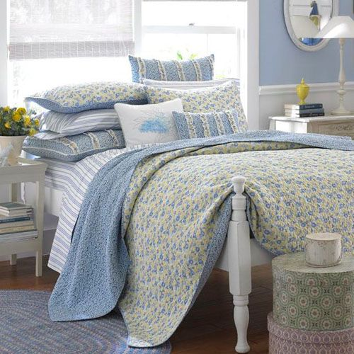 Laura Ashley Carlie Blue Quilt