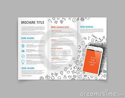 modern vector three fold brochure design template brochure ideas