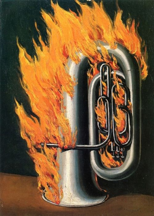 The Discovery of Fire (1935). Rene Magritte. - https://wp.me/p6qjkV-3uc  #Art