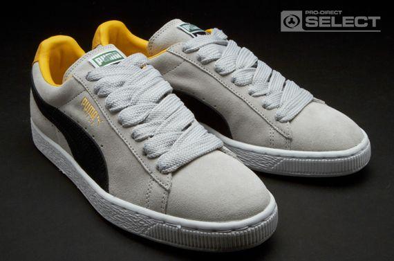 b3d53a1c9d5bf4 Puma Suede Classic Eco Mens Shoes - Grey Violet-Black-Spectra Yellow