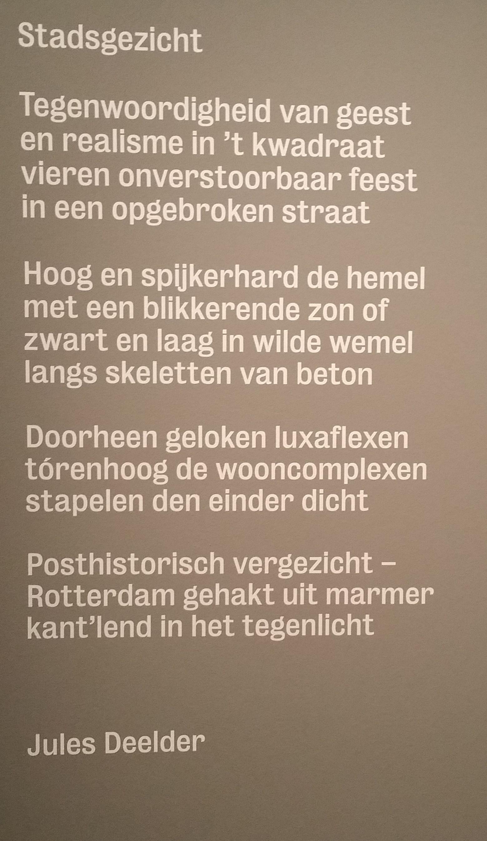 Jules Deelder Gedichten Rotterdam Bewri Rotterdam 2