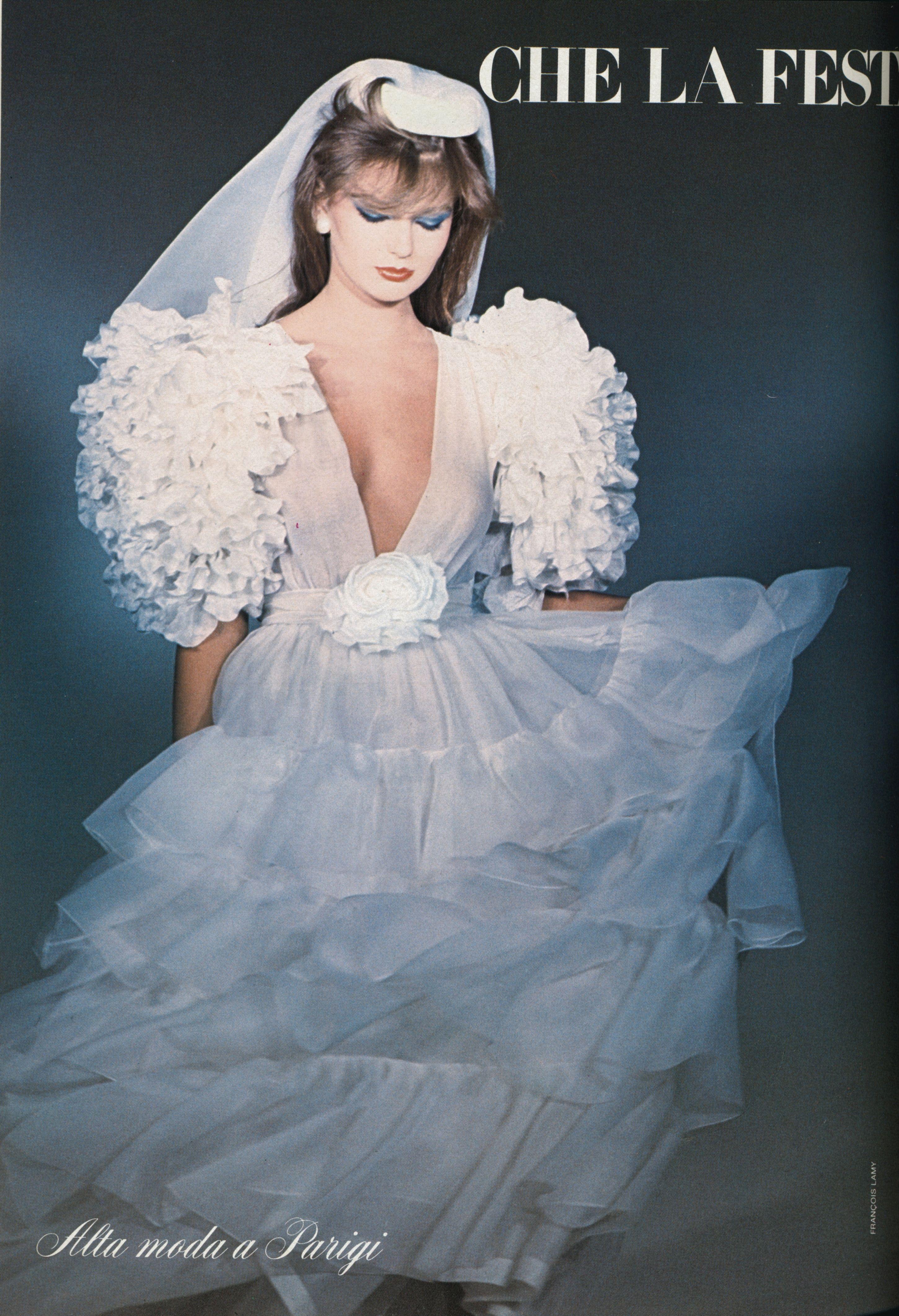 Vogue Italy Sposa June 1982 wedding dresses history